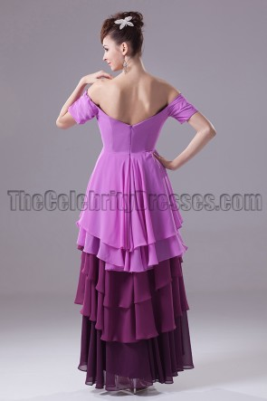 High Low Off-The-Shoulder Prom Gown Evening Dress