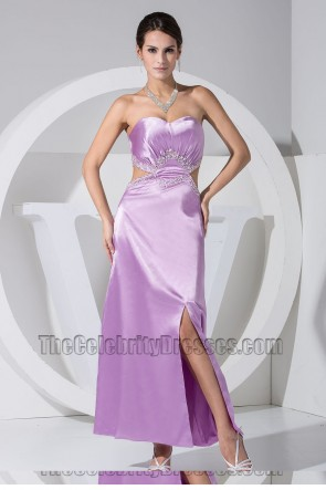 Chic Lilac Strapless Cut Out Prom Dress Evening Dresses