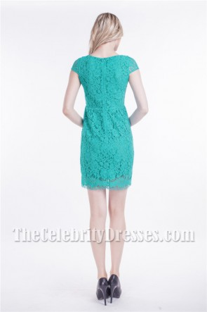 Chic Short Lace Cap Sleeve Cocktail Party Dresses
