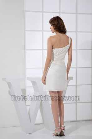 White Cut Out One Shoulder Party Dress Cocktail Homecoming Dresses