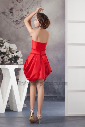 Chic Strapless Short Red Party Homecoming Dresses