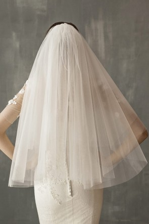Cut Edge Elbow Bridal Veils