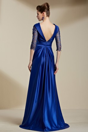 Celebrity Inspired Dark Royal Blue Backless Evening Dress Formal Gown TCDC30816