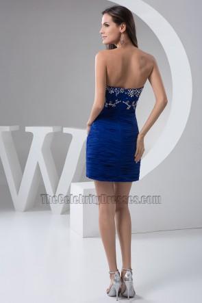 Sexy Dark Royal Blue Beaded Short /Mini Party Dress