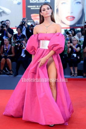 Dayane Mello Fuchisa Sexy Evening Prom Gown 'The Young Pope' Premiere 2016 Venice Film Festival  1