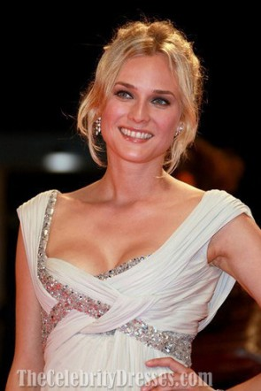 Diane Krugerイブニングドレスヴェネツィア映画祭2007レッドカーペットドレス