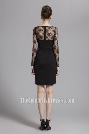 Discount Black Long Sleeve Cocktail Party Dresses