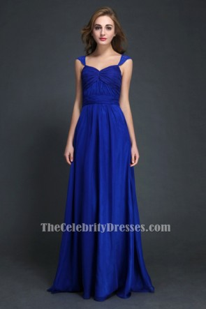 Discount Cut Out Royal Blue Floor Length Prom Dresses TCDBF038