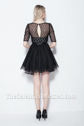 Discount Short Mini Little Black Party Dress TCDB0109