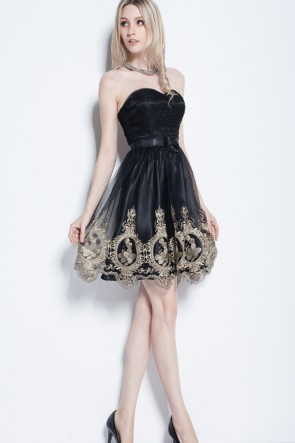Discount Short Sweetheart Tulle Party Homecoming Dresses