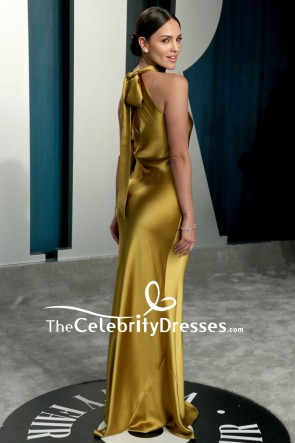 Eiza González Gold Mermaid Formal Dress 2020 Vanity Fair Oscar party TCD8853