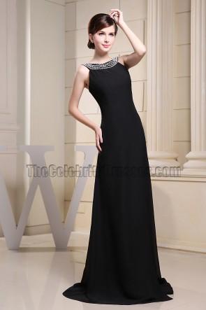 Elegant Black Evening Dress Prom Formal Dresses With Beading