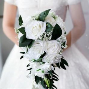 Elegant Cascade Silk Cloth Bridal Bouquets