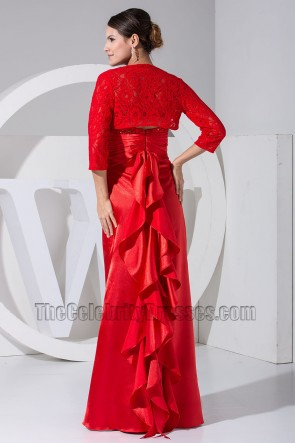 Elegant Red Strapless Formal Dress Prom Evening Dresses