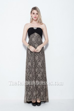Elegant Strapless Lace Formal Dress Prom Gowns