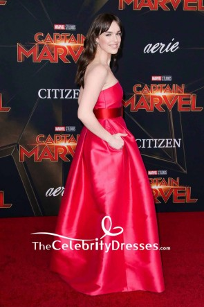 Elizabeth Henstridge Strapless Evening Dress Premiere of 'Captain Marvel' TCD8327