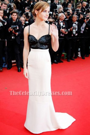 Emma Watson Backless Formal Dress Cannes festival 2013 Red Carpet