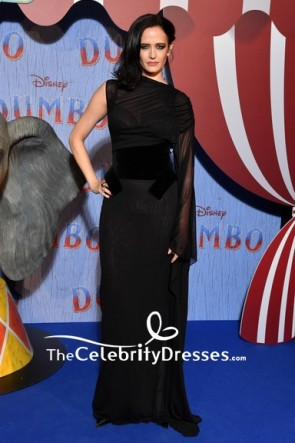 Eva Green Black One Sleeve Sheath Formal Dress Paris screening of 'Dumbo'