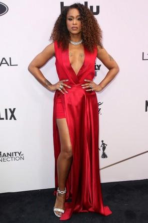Eve Red Thigh-high Slit Evening Dress 2020 Essence Black Women