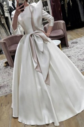 Fabulous White Ball Gown With Sleeves
