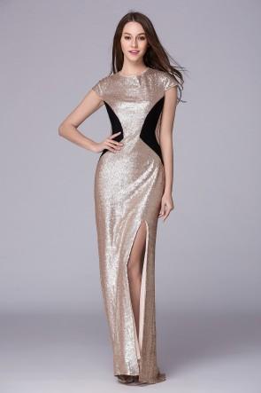 Floor Length Cap Sleeve Prom Gown Evening Dress TCDBF5005