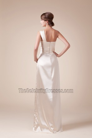 Floor Length One Shoulder Prom Gown Evening Bridesmaid Dresses