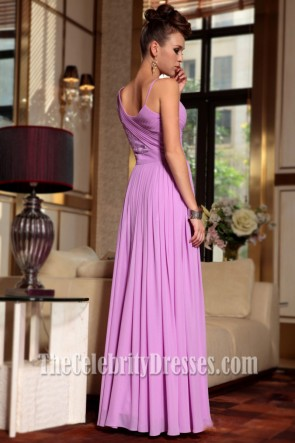 Full Length Chiffon Evening Gown Prom Formal Dresses