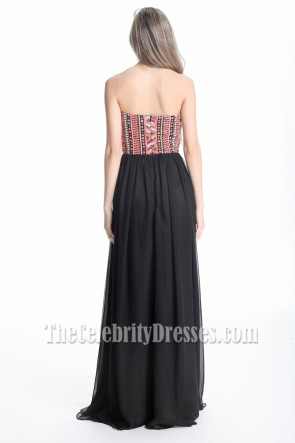 Gorgeous Strapless Sequined Floor Length Evening Dresses