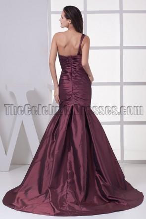 One Shoulder Mermaid Formal Gown Evening Dress