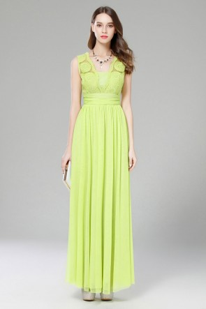 Green Sleeveless Maxi Dress Wedding Guest Dresses TCDBF2003