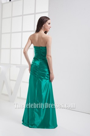 Elegant Green Strapless Prom Bridesmaid Dresses