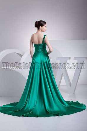 Hunter One Shoulder A-Line Prom Gown Evening Dress