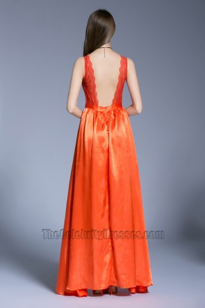 New Celebrity Backless Evening Dress Bridesmaid Prom Gown TCDBF5017
