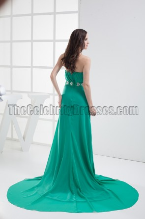 Hunter Strapless Chiffon Prom Dress Evening Formal Gown