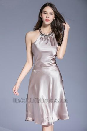 Fashion Women Short  Halter Prom Dress Party Cocktail Sleeveless Evening Dress  1