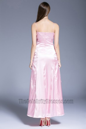 New Fashion Pink Evening Dress Party Graduation Sleeveless Ball Gown TCDBF5024
