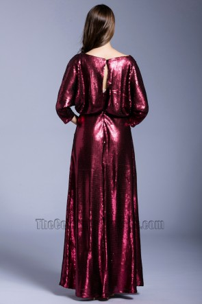 Girls New Elegant  Long Prom Dress Sequins Party Cocktail Evening Dress TCDBF5032