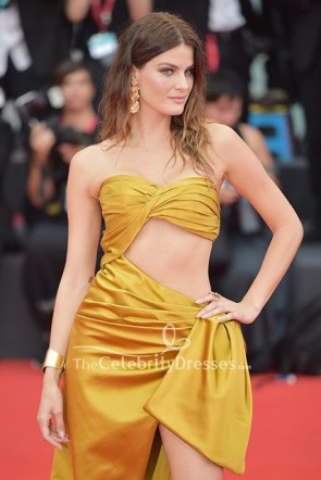Isabeli Fontana Strapless Cutout Dress Venice Film Festival 2019  TCD8628