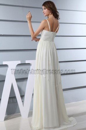 Floor Length Ivory Cut Out Prom Dress Evening Formal Gowns