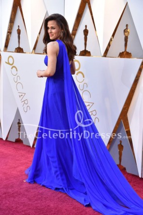 ジェニファーガーナー2018オスカーレッドカーペットロイヤルブルーのイブニングドレス