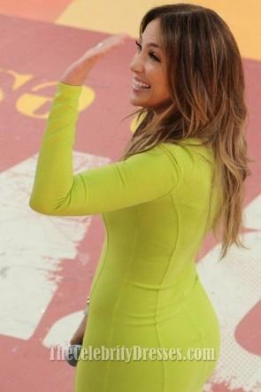 Jennifer Lopez ジェニファー・ロペス ショート長袖パーティードレスサンパウロプロモーション