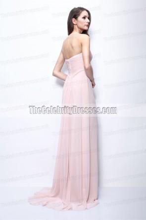 Jennifer Lopez ジェニファー・ロペス マンハッタンの映画メイドのピンクのイブニングドレス
