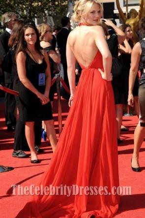 Jennifer Morrison ジェニファーモリソンレッドシフォンウエディングドレス2012クリエイティブアートエミー賞