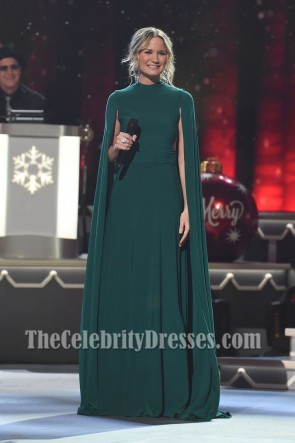 Jennifer Nettles Caped Long Evening Dress CMA 2016 Country Christmas