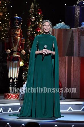 Jennifer Nettles ジェニファーイラクサ マント付きロングイブニングドレスCMA 2016カントリークリスマス