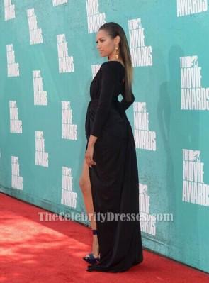 Kat Graham キャット・グラハム ブラックウエディングイブニングドレス2012年MTV映画賞