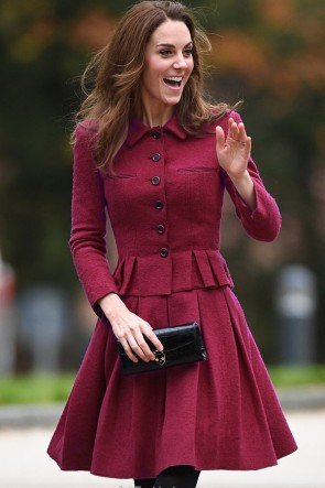 Kate Middle Purple Long Sleeves Suit