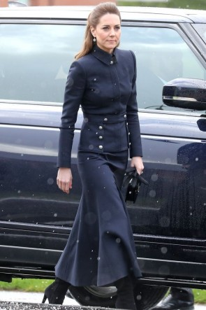 Kate Middleton 2020 Dark Navy Two Pieces Suit