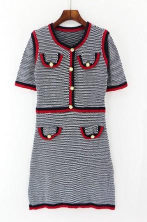 ケイトミドルトンファッション袖付きウールドレス