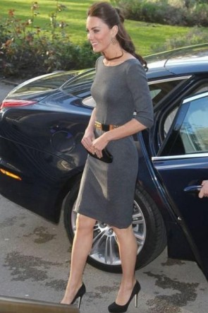 Kate Middleton Gray Short Dress